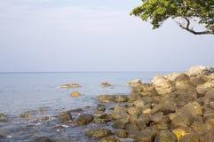 Overzees strand Royalty-vrije Stock Foto