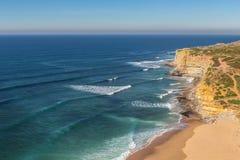 Overzees strand in Ericeira voor surfers royalty-vrije stock afbeelding