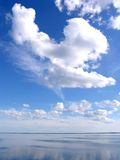 Overzees strandlandschap Royalty-vrije Stock Afbeeldingen