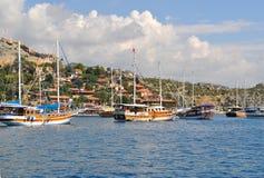 Overzees in Turkije Kekova Royalty-vrije Stock Fotografie