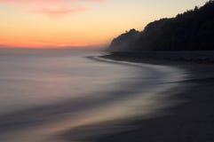 Overzees vóór zonsopgang Stock Afbeeldingen