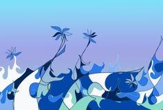 Overzees van bloemen Stock Afbeelding