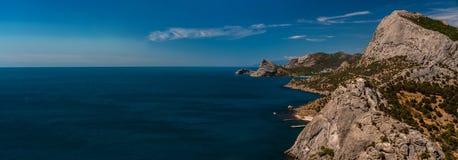 Overzees van de schoonheidsaard landschap de Krim Royalty-vrije Stock Afbeeldingen