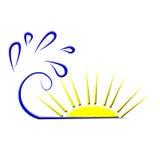 Overzees van de zon embleem Stock Foto's