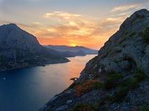 Overzees van de zonsopgang landschap 1 stock afbeeldingen