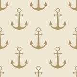 Overzees van het anker uitstekende patroon zee het etiketinzameling van het achtergrondsymboolembleem Stock Afbeelding
