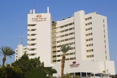 Overzees van het Crowneplein Dood Hotel in Ein Bokek Stock Foto