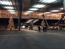 Overzees van Lichten bij de Luchthaven ZRH van Zürich: Wauw! stock afbeelding