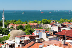 Overzees van Marmara, mening van Istanboel Royalty-vrije Stock Afbeelding