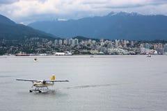 Overzees van Vancouver Vliegtuig Stock Afbeeldingen