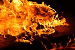 Overzees van Vlammen Stock Fotografie