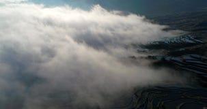 Overzees van wolken stock footage