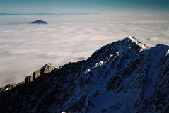 Overzees van wolken royalty-vrije stock foto