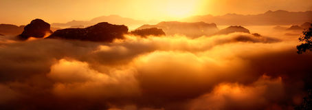 Overzees van wolken Royalty-vrije Stock Foto's