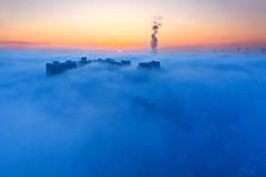 Overzees van wolken Stock Afbeelding