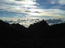 Overzees van wolken Stock Fotografie