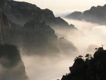 Overzees van wolken Stock Foto's
