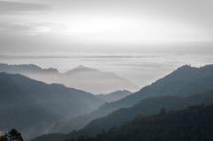 Overzees van wolken Stock Foto