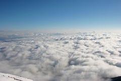 Overzees van wolken Royalty-vrije Stock Afbeeldingen