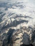 Overzees van wolken in de Franse Pyreneeën Stock Foto