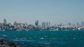 Overzees verkeer in Bosphorus-Straat stock video