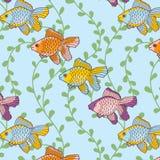 Overzees-vis-patroon royalty-vrije illustratie
