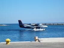 Overzees Vliegtuig royalty-vrije stock afbeeldingen