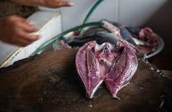 Overzees Voedsel Bali, Populaire Vissenmarkt Jimbaran, Indonesië Stock Foto