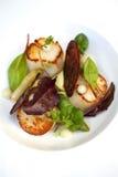 Overzees voedsel en salade royalty-vrije stock fotografie