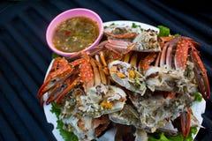 Overzees voedsel op de schotel, royalty-vrije stock afbeelding