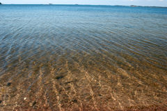 Overzees water Royalty-vrije Stock Fotografie