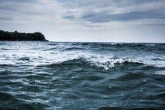 Overzees waterachtergrond Royalty-vrije Stock Foto