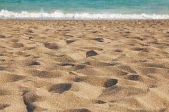 Overzees, zand en duinen Stock Foto's
