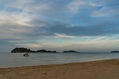 overzees zand en het strand Royalty-vrije Stock Foto