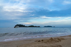 overzees zand en het strand Stock Afbeelding
