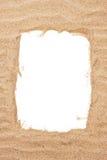 Overzees zandframe Stock Foto