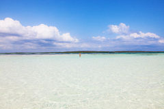 Overzees, zon en zand Stock Foto