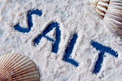 Overzees zout Stock Afbeelding