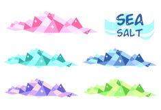 Overzees zout vector illustratie