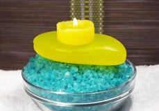 Overzees zout voor baden Royalty-vrije Stock Fotografie