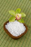 Overzees zout voor een bad stock foto's