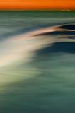 Overzeese ââat zonsondergang Stock Fotografie