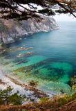 Overzeese baai, landschap, Rusland stock afbeeldingen