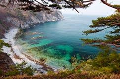 Overzeese baai, landschap, Rusland Stock Foto's