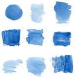 Overzeese blauwe vlekken Stock Afbeeldingen