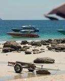 Overzeese boten Stock Foto's