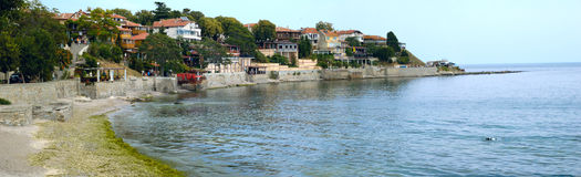 Overzeese Bulgaarse stad Stock Afbeelding