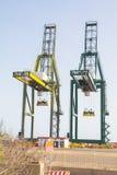Overzeese containerkraan Royalty-vrije Stock Afbeeldingen