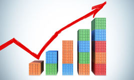 Overzeese containers stock illustratie