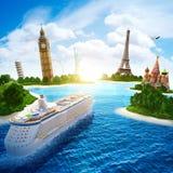 Overzeese cruise Royalty-vrije Stock Foto's